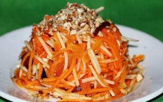 Салат из моркови с оливковым маслом
