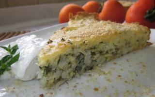 Как испечь заливной пирог с капустой