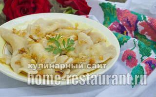 Тесто для вареников с картошкой классический рецепт