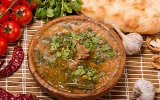 Классический рецепт приготовления супа Харчо из говядины с фото