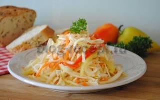Как приготовить салат провансаль из капусты
