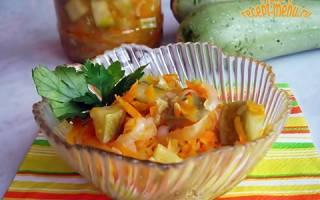 Как сделать консервированный кабачковый салат в банках