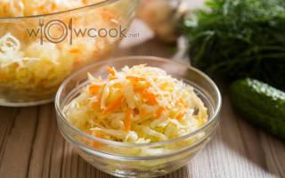 Салат из свежей капусты и моркови с уксусом рецепт