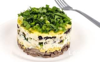 Салат с языком и свежим огурцом рецепт с фото