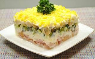 Салат обалденный с копченой курицей