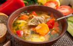 Первые блюда из баранины шурпа